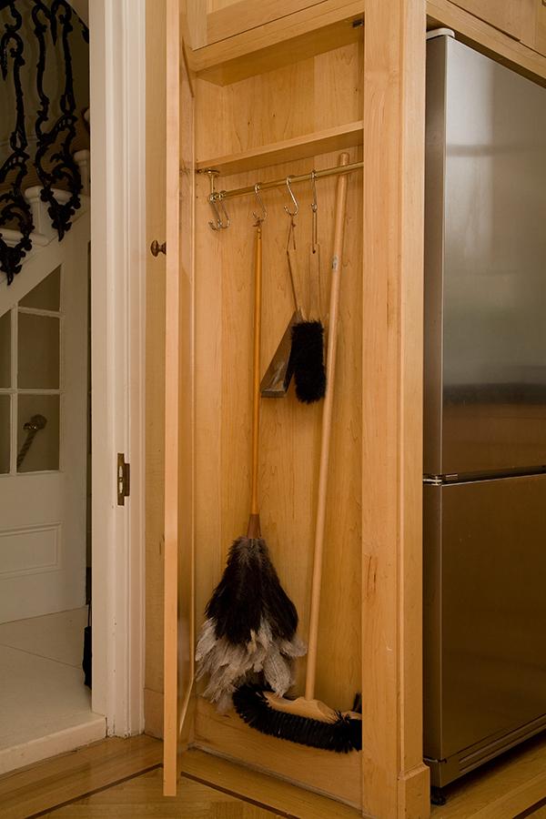 concealed broom cupboard kitchen