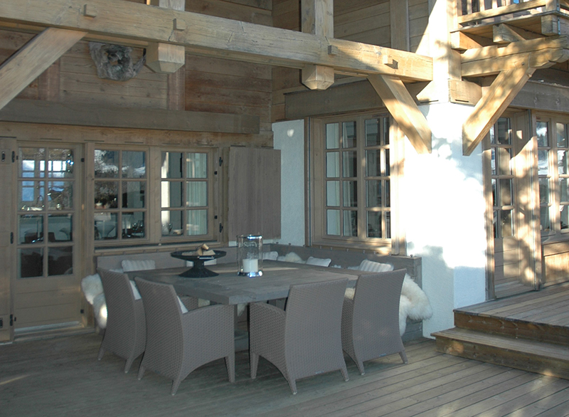 Chalet outside seating